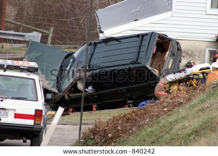 Car accident. - stock photo
