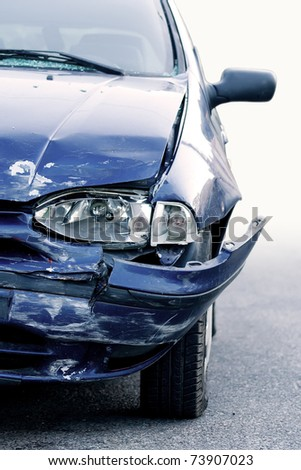 Car accident, insurance concept