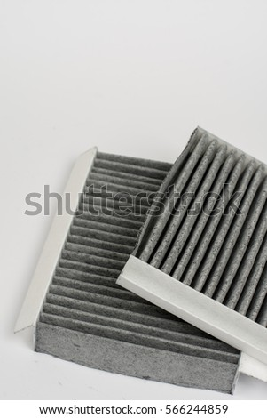 Car air cabin filter isolated over white background #566244859