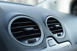 Car Air Conditioner. Air ventilation. Air conditioner in car.