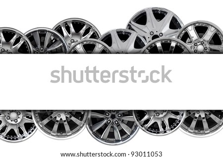 car alloy wheel background template design. isolated on white