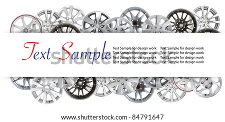 car alloy wheel background template design. isolated on white background