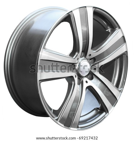 car alloy wheel, isolated over white background #69217432