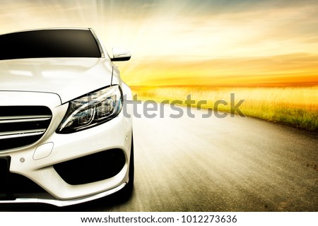 Car and background of free space for your decoration.  #1012273636