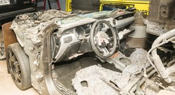 car and vehicles spares parts after an accident