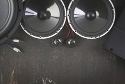 Car audio, car speakers.