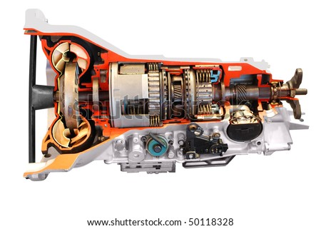 Automatic Transmission Diagram on Car Automatic Transmission Part Isolated Stock Photo 50118328