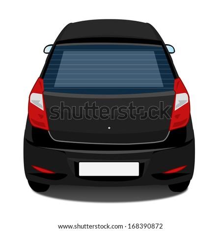 Car - Back view - black