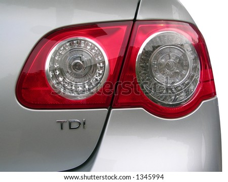 car backside light - stock photo