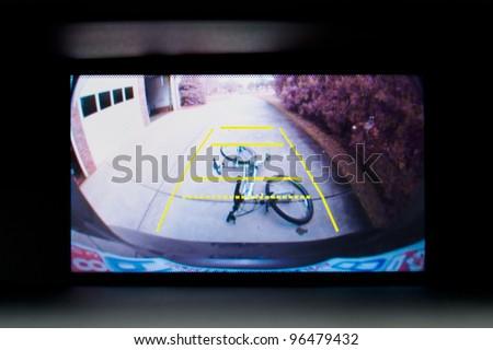 Car backup camera video display