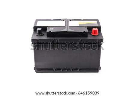 Car battery isolated on white background. #646159039