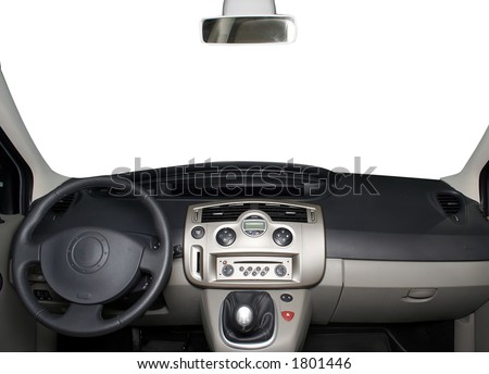 Car board isolated on white
