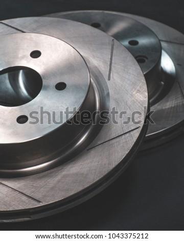 Car brake disks #1043375212