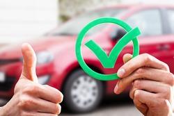 Car Buy Checklist And Insurance Appraiser Tick