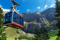 Car-cable. Picos de Europa mountains, Cantabria (Spain).