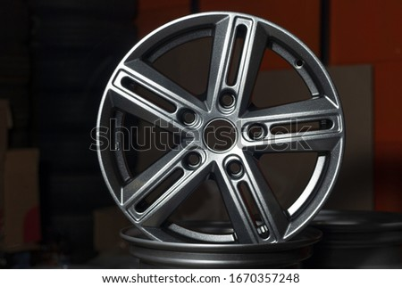 car cast alloy wheel . alloy wheels are wheels made of an alloy of aluminum or magnesium. Alloys are mixtures of metal and other elements.