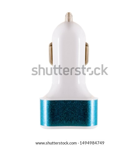 car charger in cigarette lighter isolated on a white background #1494984749