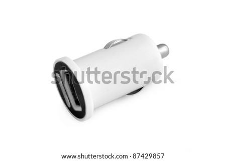 Car charger on a white background