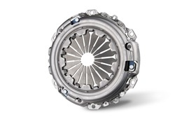 Car clutch basket. Close-up. Isolate on a white background. Front view.