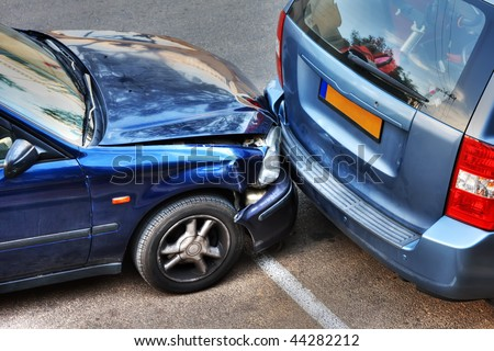 Car collision.
