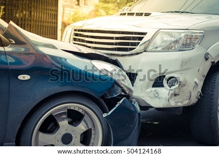 car crash from car accident on...