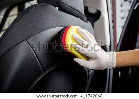 Shutterstock Car detailing series : Cleaning car seat