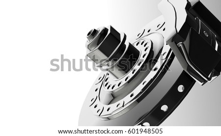 Car disks brake, 3d rendering