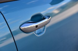 Car door handles with touch sensor