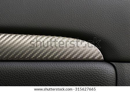 Car door inside. Interior detail.