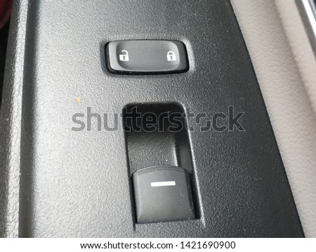 Car door lock and unlock symbol and window switch  #1421690900