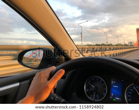car driving in summer #1158924802
