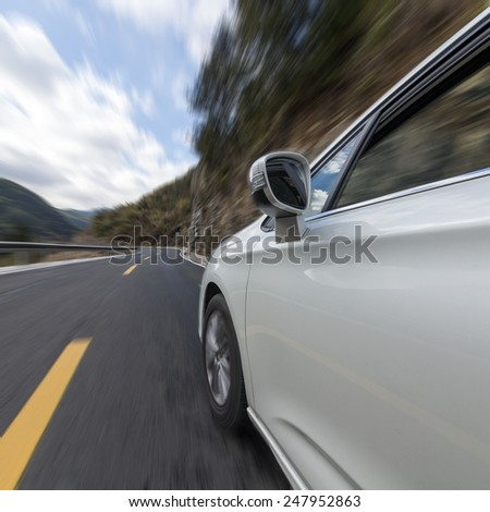 Car driving on the highway sky #247952863