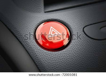 Car emergency button - stock photo