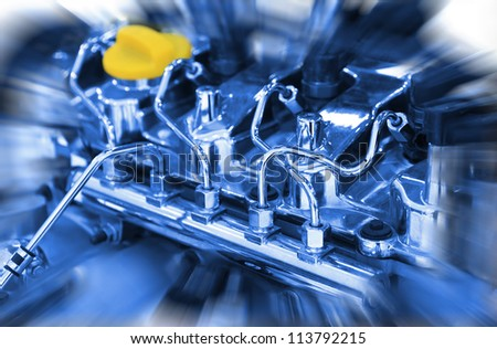 Car engine close up