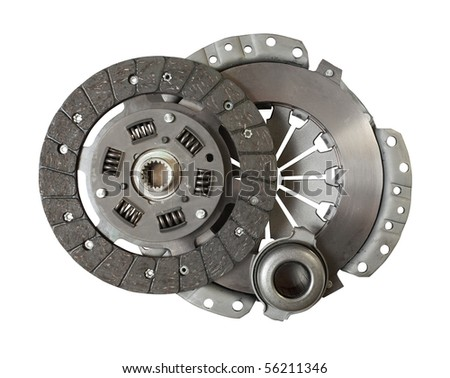Car engine clutch. Isolated on white with clipping path