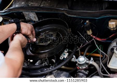 car engine repair service #1151285903