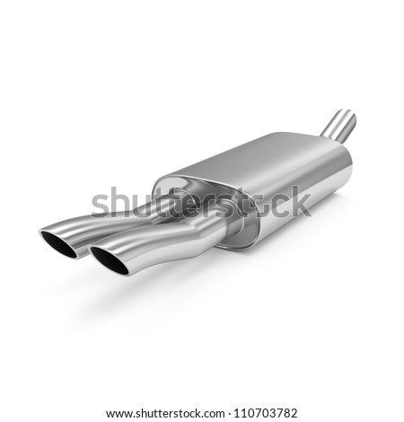 Car Exhaust Pipe isolated on white background