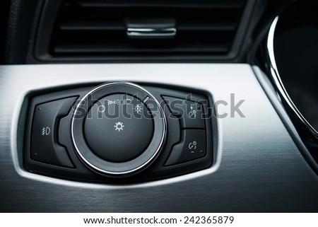 Car Exterior Lighting Control Button Switcher. Modern Car Lighting Controller. Fog Lights Control.