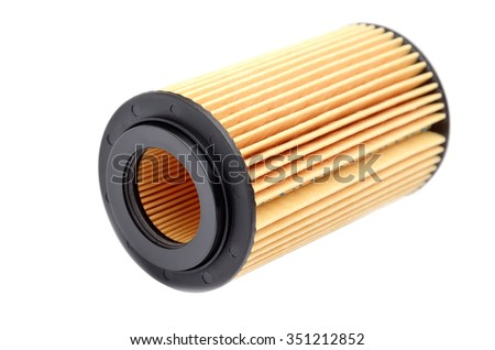 Car fuel filter isolated on white background