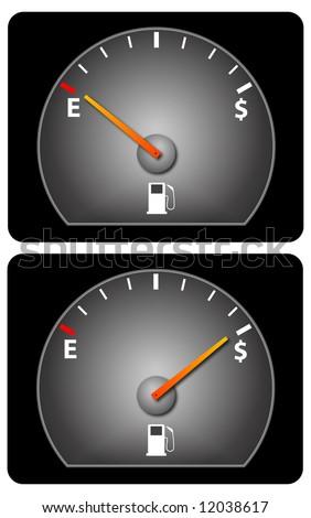 Fuel Gauge Symbol Car Fuel Gauge With Do...