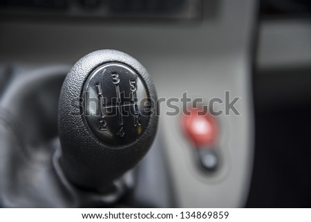 Car gear shift with copy space