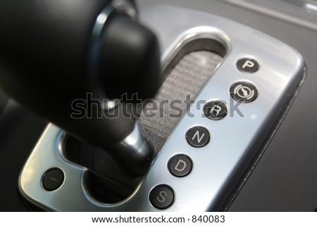 Car gear stick in drive