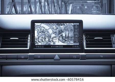 car gps with map of shanghai, China #60578416