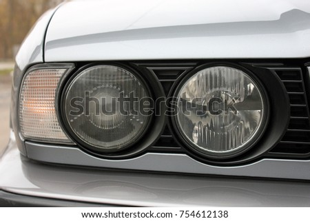 Car headlights. Luxury Headlights #754612138