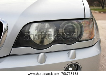 Car headlights. Luxury Headlights #758738188
