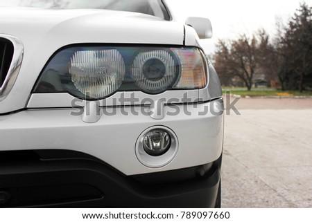 Car headlights. Luxury Headlights #789097660