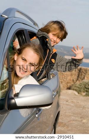 car hire - stock photo