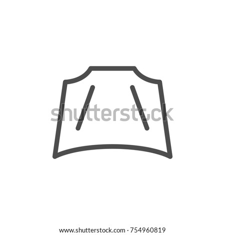 Car hood line icon isolated on white