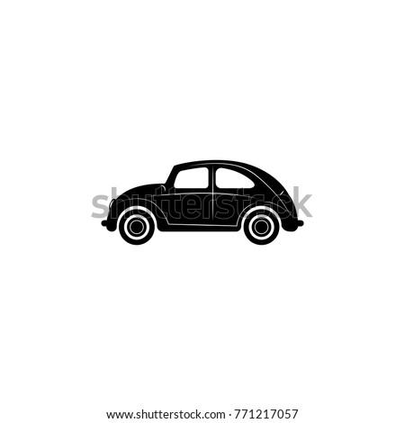 Car icon. Mini small urban city vehicle icon on white background