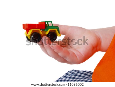 car in child hand